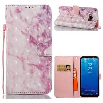 Pink Marble 3D Painted Leather Wallet Case for Samsung Galaxy S8 Plus S8+