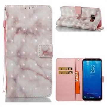 Beige Marble 3D Painted Leather Wallet Case for Samsung Galaxy S8 Plus S8+