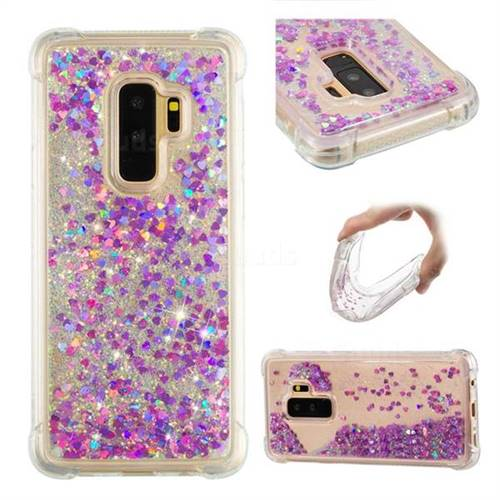 Dynamic Liquid Glitter Sand Quicksand Star TPU Case for Samsung Galaxy S9 Plus(S9+) - Rose