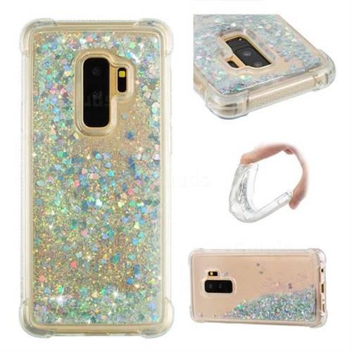 Dynamic Liquid Glitter Sand Quicksand Star TPU Case for Samsung Galaxy S9 Plus(S9+) - Silver