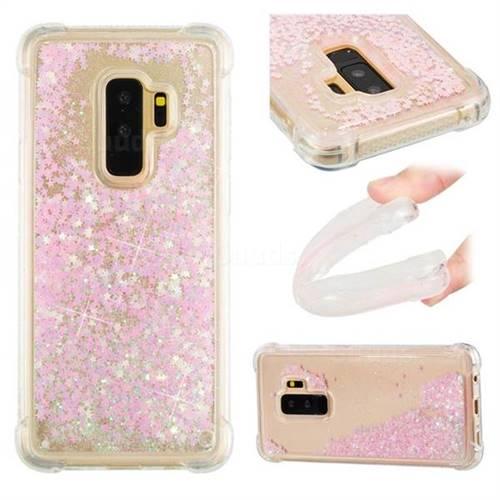 Dynamic Liquid Glitter Sand Quicksand TPU Case for Samsung Galaxy S9 Plus(S9+) - Silver Powder Star