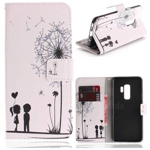 Couple Dandelion PU Leather Wallet Case for Samsung Galaxy S9 Plus(S9+)