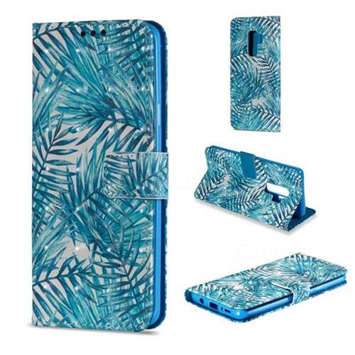 Banana Leaves 3D Painted Leather Wallet Case for Samsung Galaxy S9 Plus(S9+)