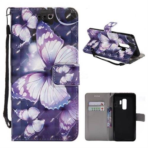 samsung s9 plus wallet case purple