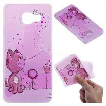 Cat and Bee 3D Relief Matte Soft TPU Back Cover for Samsung Galaxy A3 2016 A310