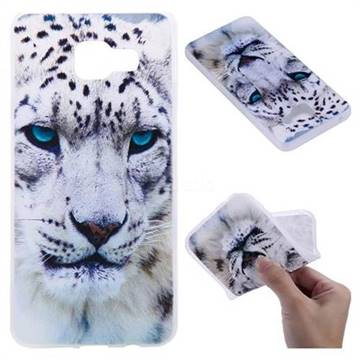 White Leopard 3D Relief Matte Soft TPU Back Cover for Samsung Galaxy A3 2016 A310