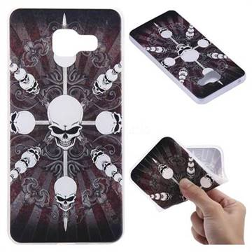 Compass Skulls 3D Relief Matte Soft TPU Back Cover for Samsung Galaxy A3 2016 A310