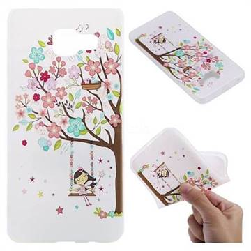 Tree and Girl 3D Relief Matte Soft TPU Back Cover for Samsung Galaxy A3 2016 A310