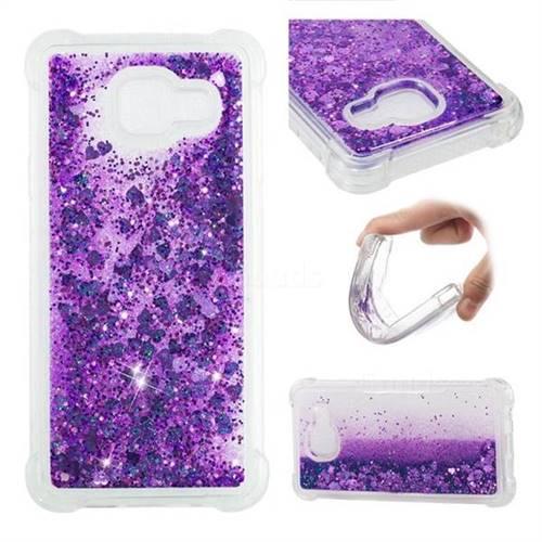 Dynamic Liquid Glitter Sand Quicksand Star TPU Case for Samsung Galaxy A3 2016 A310 - Purple