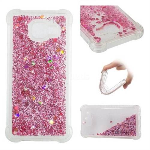 Dynamic Liquid Glitter Sand Quicksand Star TPU Case for Samsung Galaxy A3 2016 A310 - Diamond Rose