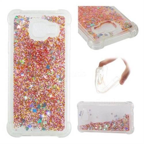 Dynamic Liquid Glitter Sand Quicksand Star TPU Case for Samsung Galaxy A3 2016 A310 - Diamond Gold