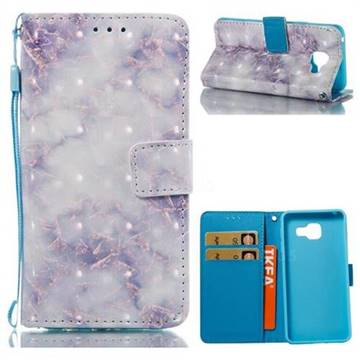 Green Gray Marble 3D Painted Leather Wallet Case for Samsung Galaxy A3 2016 A310
