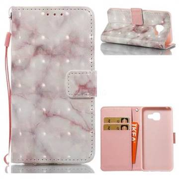 Beige Marble 3D Painted Leather Wallet Case for Samsung Galaxy A3 2016 A310