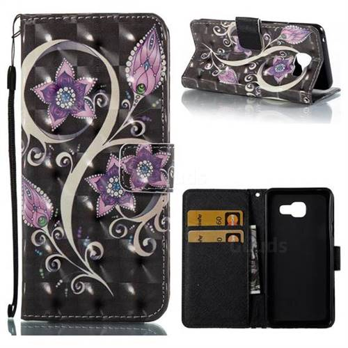 Peacock Flower 3D Painted Leather Wallet Case for Samsung Galaxy A3 2016 A310
