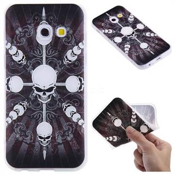 Compass Skulls 3D Relief Matte Soft TPU Back Cover for Samsung Galaxy A3 2017 A320