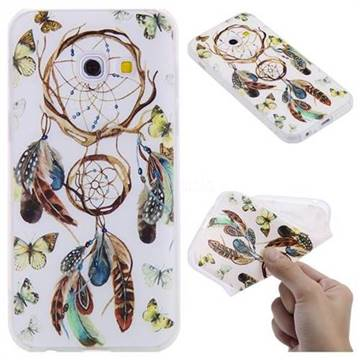 Color Wind Chimes 3D Relief Matte Soft TPU Back Cover for Samsung Galaxy A3 2017 A320