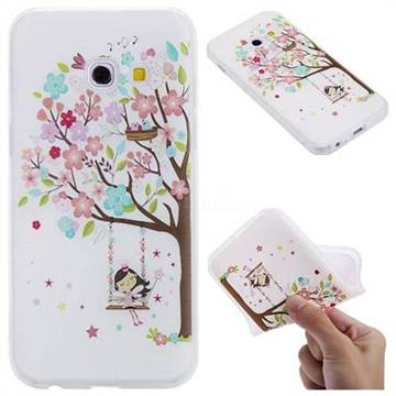Tree and Girl 3D Relief Matte Soft TPU Back Cover for Samsung Galaxy A3 2017 A320