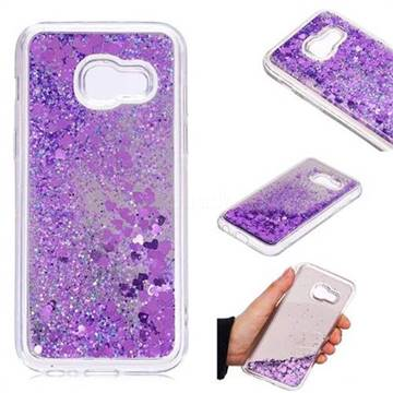 Glitter Sand Mirror Quicksand Dynamic Liquid Star TPU Case for Samsung Galaxy A3 2017 A320 - Purple