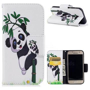 Bamboo Panda Leather Wallet Case for Samsung Galaxy A3 2017 A320
