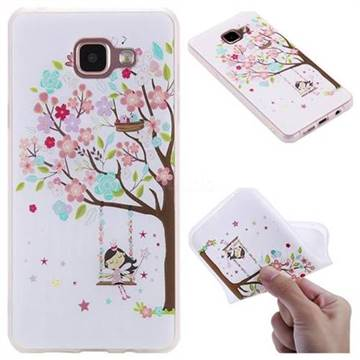 Tree and Girl 3D Relief Matte Soft TPU Back Cover for Samsung Galaxy A5 2016 A510