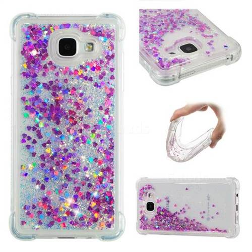 Dynamic Liquid Glitter Sand Quicksand Star TPU Case for Samsung Galaxy A5 2016 A510 - Rose