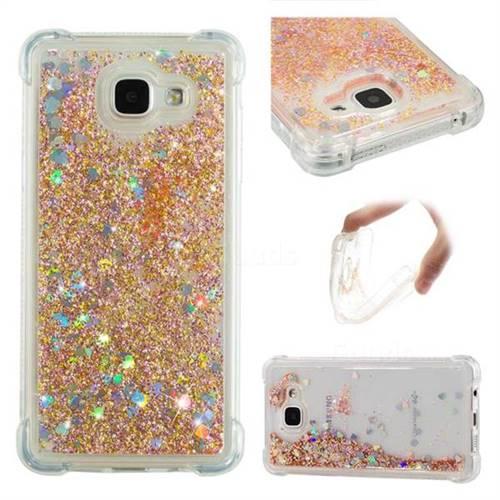 Dynamic Liquid Glitter Sand Quicksand Star TPU Case for Samsung Galaxy A5 2016 A510 - Diamond Gold