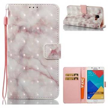 Beige Marble 3D Painted Leather Wallet Case for Samsung Galaxy A5 2016 A510