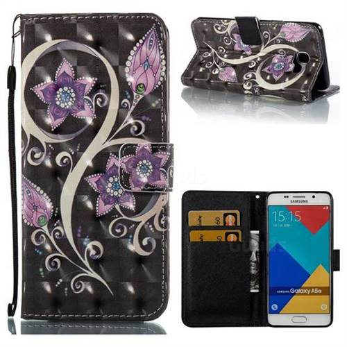Peacock Flower 3D Painted Leather Wallet Case for Samsung Galaxy A5 2016 A510