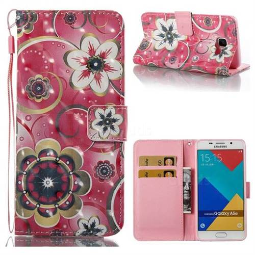 Tulip Flower 3D Painted Leather Wallet Case for Samsung Galaxy A5 2016 A510