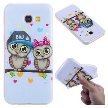 Couple Owls 3D Relief Matte Soft TPU Back Cover for Samsung Galaxy A5 2017 A520