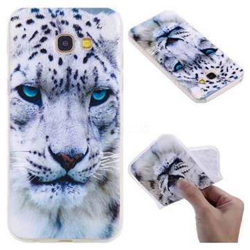 White Leopard 3D Relief Matte Soft TPU Back Cover for Samsung Galaxy A5 2017 A520