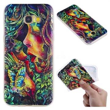 Butterfly Kiss 3D Relief Matte Soft TPU Back Cover for Samsung Galaxy A5 2017 A520