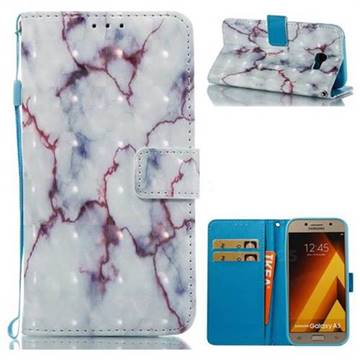 White Purple Marble 3D Painted Leather Wallet Case for Samsung Galaxy A5 2017 A520