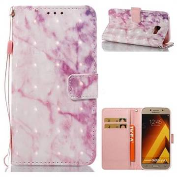 Pink Marble 3D Painted Leather Wallet Case for Samsung Galaxy A5 2017 A520