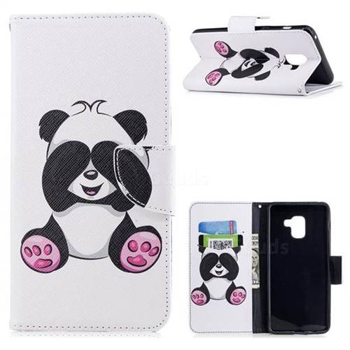 Lovely Panda Leather Wallet Case for Samsung Galaxy A8+ (2018)