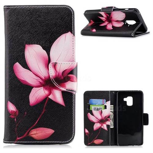Lotus Flower Leather Wallet Case for Samsung Galaxy A8+ (2018)