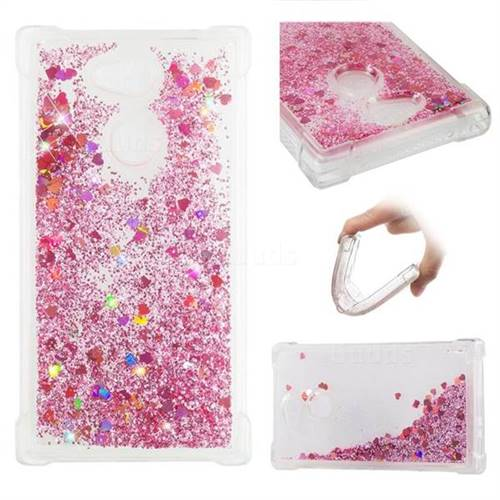 Dynamic Liquid Glitter Sand Quicksand Star TPU Case for Sony Xperia L2 - Diamond Rose
