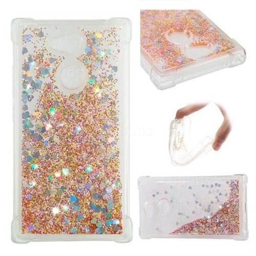 Dynamic Liquid Glitter Sand Quicksand Star TPU Case for Sony Xperia L2 - Diamond Gold