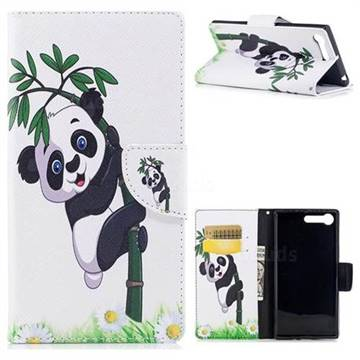 Bamboo Panda Leather Wallet Case for Sony Xperia X1