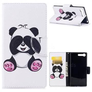 Lovely Panda Leather Wallet Case for Sony Xperia X1