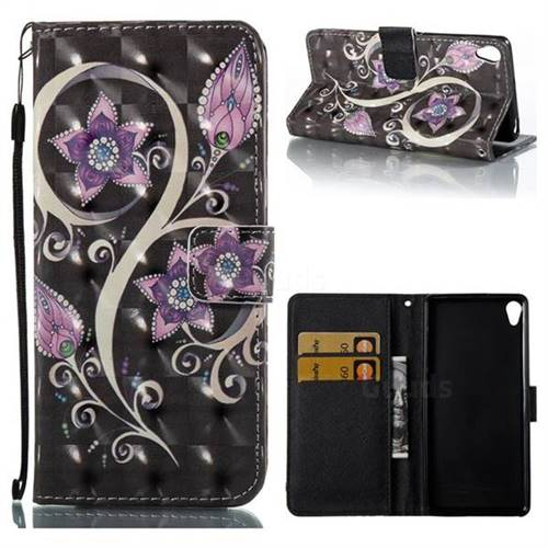 Peacock Flower 3D Painted Leather Wallet Case for Sony Xperia XA