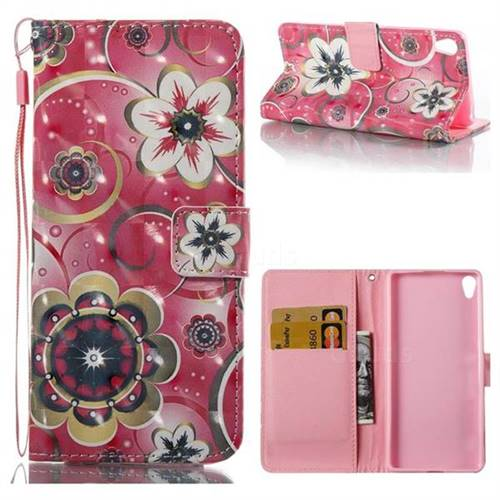 Tulip Flower 3D Painted Leather Wallet Case for Sony Xperia XA
