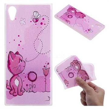 Cat and Bee 3D Relief Matte Soft TPU Back Cover for Sony Xperia XA1