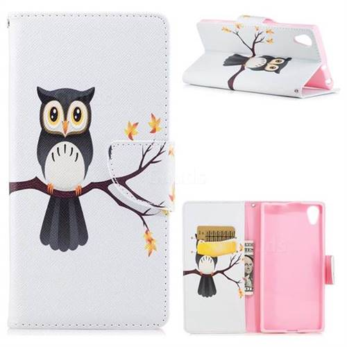 Owl on Tree Leather Wallet Case for Sony Xperia XA1 Plus