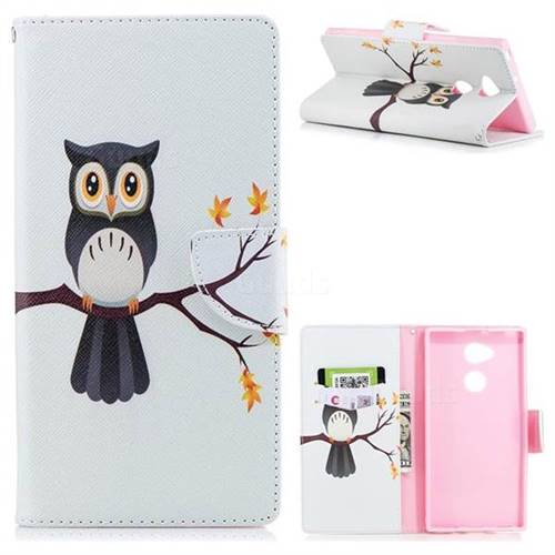 Owl on Tree Leather Wallet Case for Sony Xperia XA2 Ultra(6.0 inch)