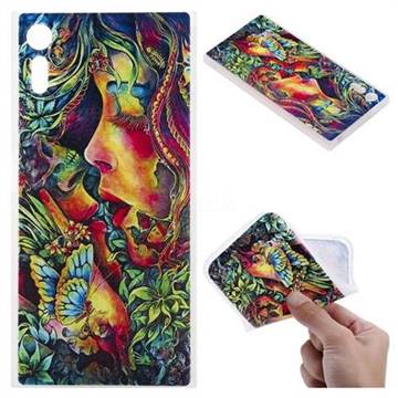 Butterfly Kiss 3D Relief Matte Soft TPU Back Cover for Sony Xperia XZ XZs