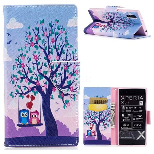 Tree and Owls Leather Wallet Case for Sony Xperia XZ