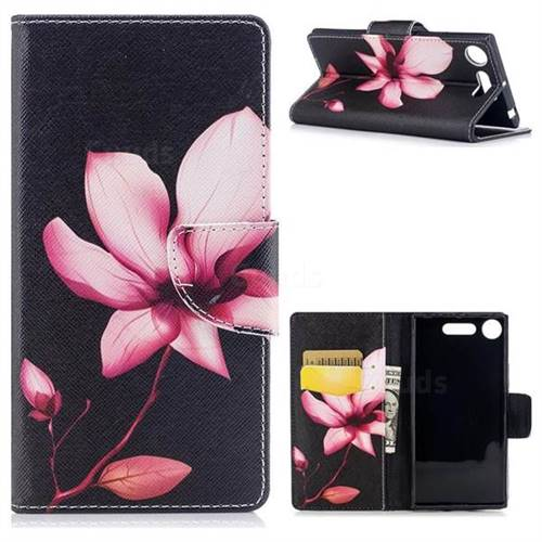 Lotus Flower Leather Wallet Case for Sony Xperia XZ1