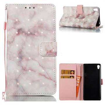 Beige Marble 3D Painted Leather Wallet Case for Sony Xperia E5