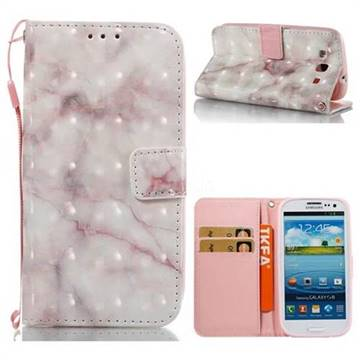 Beige Marble 3D Painted Leather Wallet Case for Samsung Galaxy S3